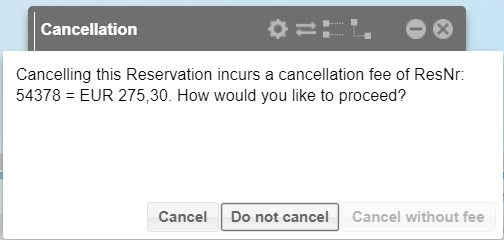Cancelling reservations